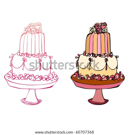 illustrated cake icons