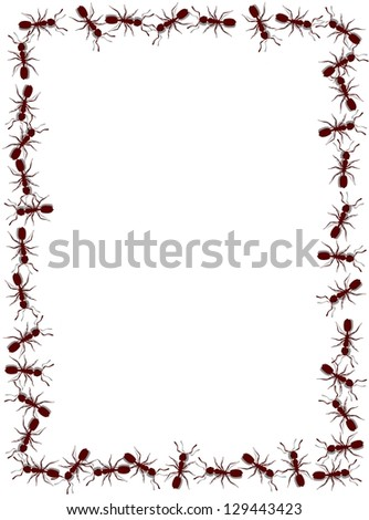 Illustrated frame made of lots of ants #129443423