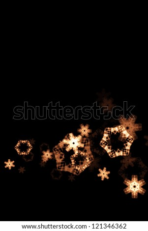 Illustrated glowing snowflakes