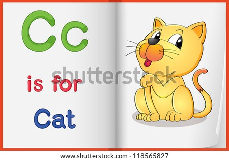 Illustrated letters and words worksheet