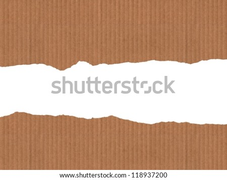 Illustration  a  broken cardboard with white background.