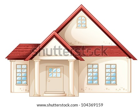 Illustration a simple house front view eps vector format for Simple house front view