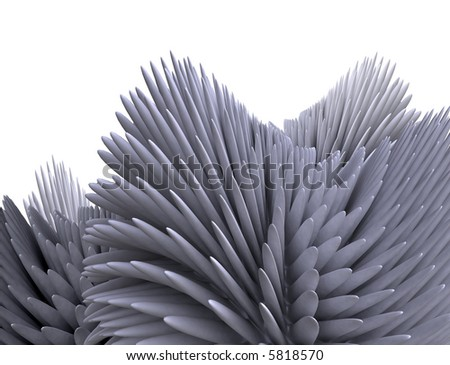 Illustration: abstract anemone - stock photo
