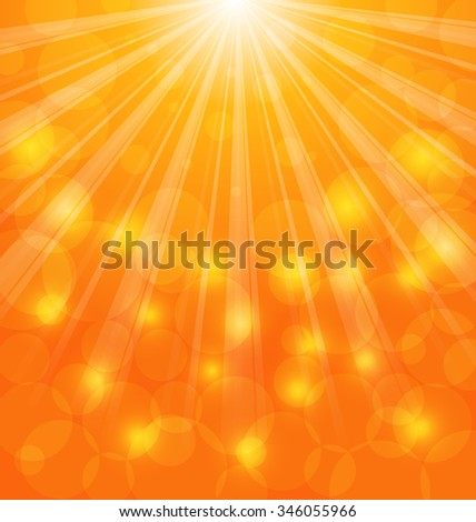 Illustration Abstract Background with Sun Light Rays - raster
