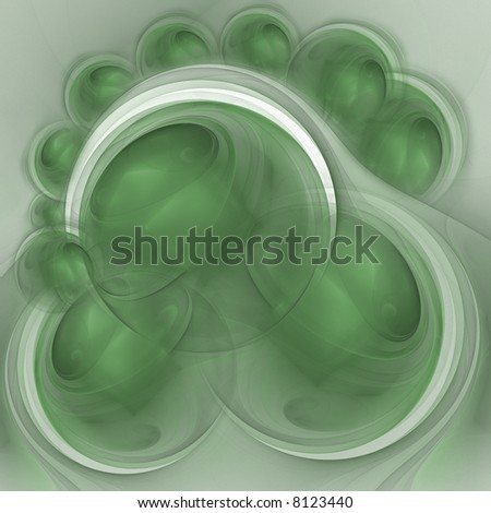 Illustration. Abstract green flower