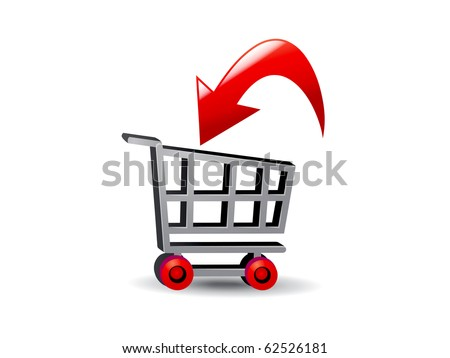 illustration art of the shopping cart On-line Business payment, transaction, delivery is  the fastest way for a transaction around the world