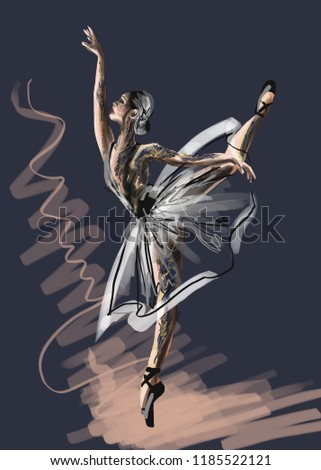 illustration ballerina art