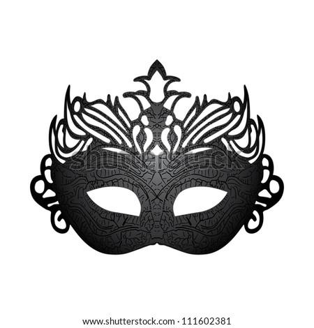 Illustration carnival mask isolated on white background. Raster version