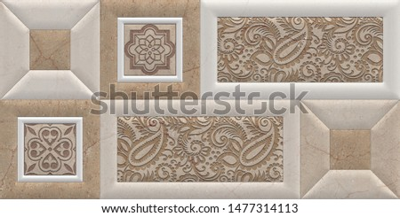 Illustration  ceramic wall decoration decor  and wallpaper decor background texture