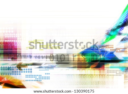 illustration colorful abstract digital technology background
