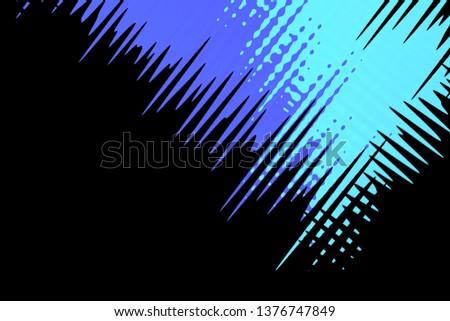 Illustration colorful and multicolor artwork in the corner of black background #1376747849