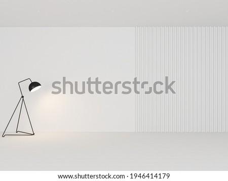 Illustration 3D rendering large luxury modern bright interiors Living room mockup computer digitally generated image Foto stock ©