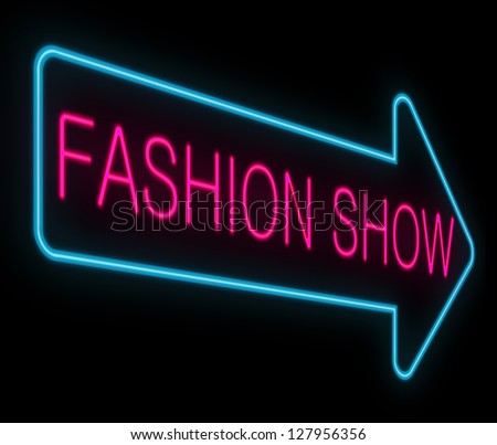 Illustration depicting a neon signage with a fashion show concept.