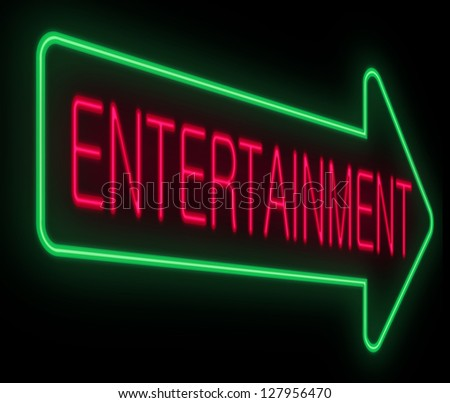 Illustration depicting a neon signage with an entertainment concept.