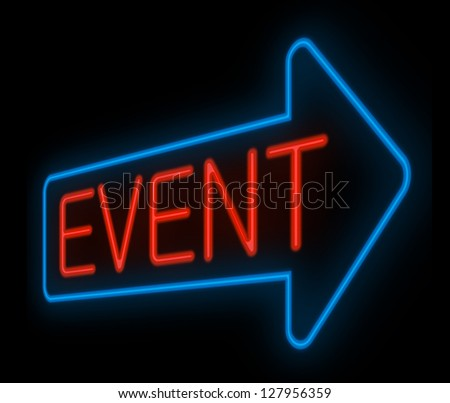 Illustration depicting a neon signage with an event concept.