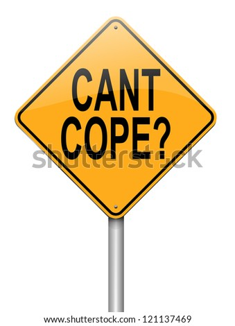 Illustration depicting a roadsign with a cant cope concept. White background.