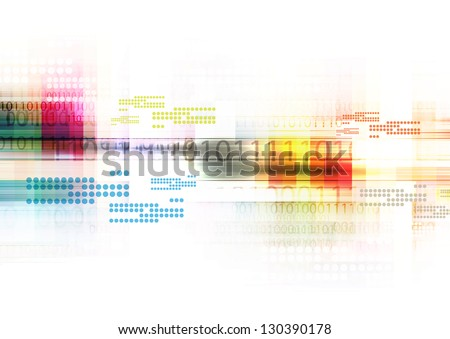 illustration digital technology, abstract background
