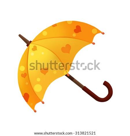 Stock Photo Illustration: Elements Set: Umbrella. Realistic Cartoon Life Style.