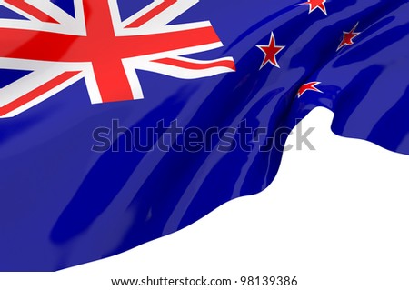 Illustration flags of New Zealand