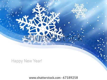 Illustration for New Year, Christmas card or packaging. - stock photo