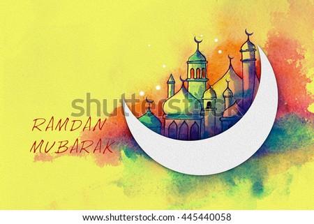 illustration for ramdan - Shutterstock ID 445440058
