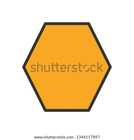 Illustration  Heptagon Geometric Shape Icon #1346117897