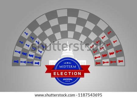 Illustration idea for the November 2018 US Midterm Election.