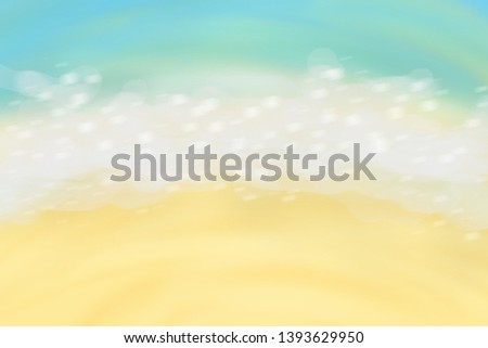 illustration image of summer sea beach and some bubbles which look likes mermaid's world theme, may use for background