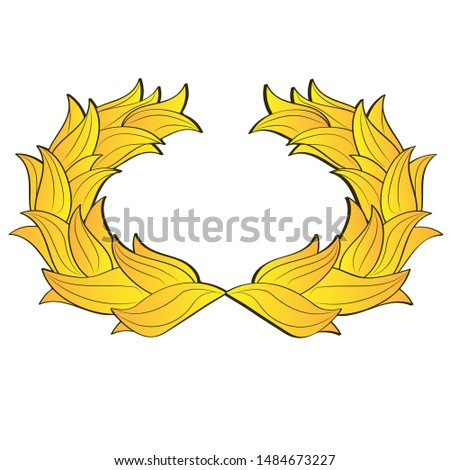 illustration insignia golden wing icon symbol.
