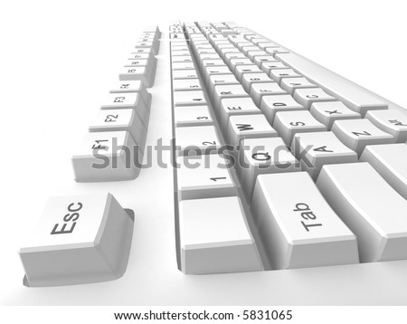 illustration: keyboard for computer
