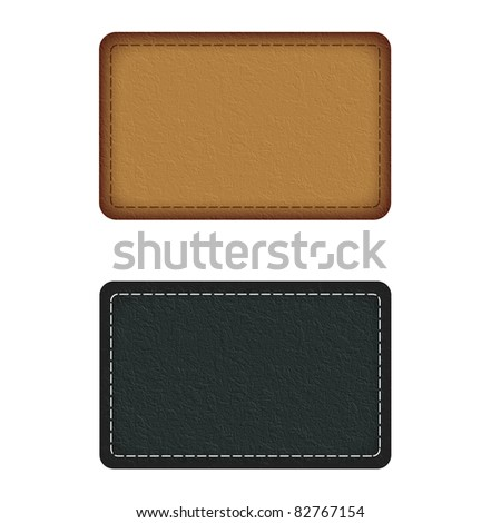 Illustration leather plate on a white background