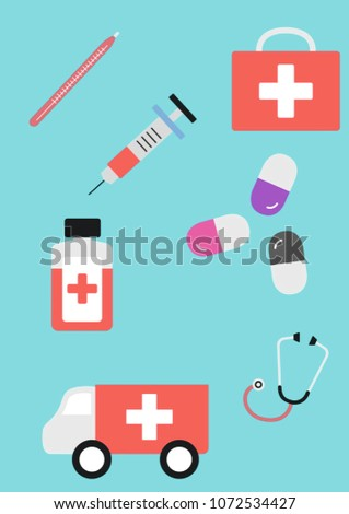 "Illustration ""Medicine help"" #1072534427"