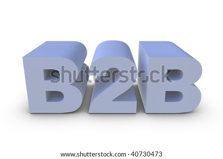 Illustration of a B2B letter in 3D