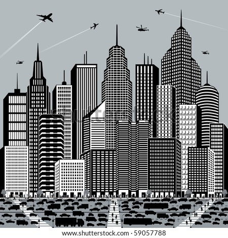 Busy City Clipart Busy City of a Big Clipart