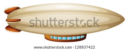 Illustration of a blimp on a white background