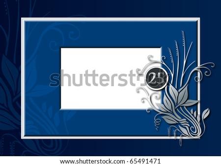 blue and silver wedding stuff