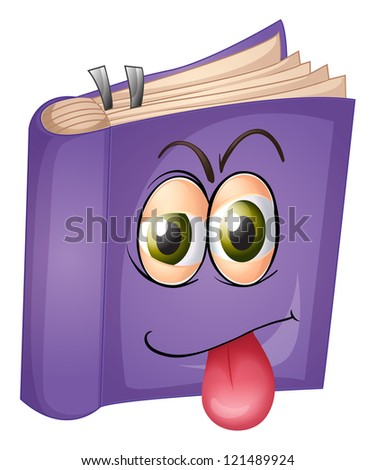 illustration of a book on a white background