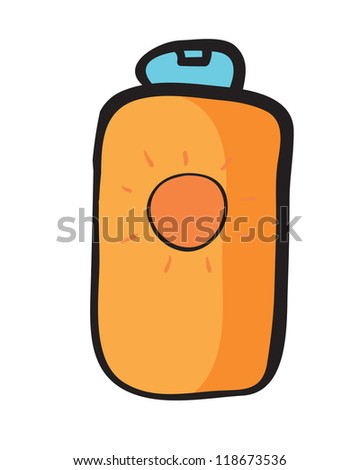 illustration of a bottle on a white background