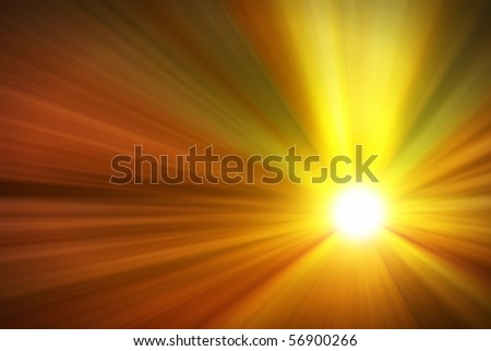 Illustration of a burning sun, or star and beautiful rays of light.