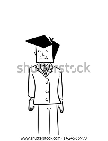 Illustration of a caricature of a person.