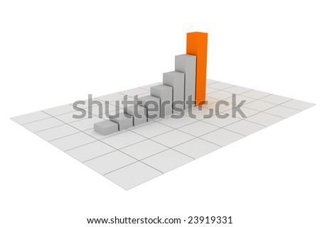 Illustration of a chart going up