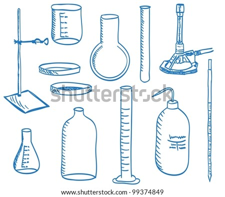 Illustration of a chemistry laboratory equipment