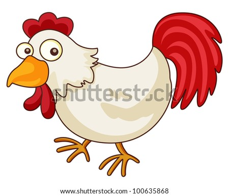 Illustration of a chicken cartoon - EPS VECTOR format also available in my portfolio.