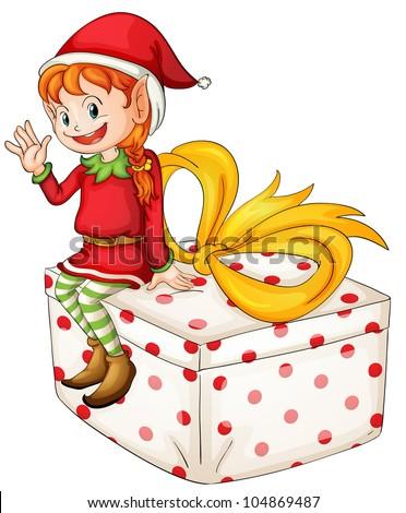 Illustration of a Christmas elf -