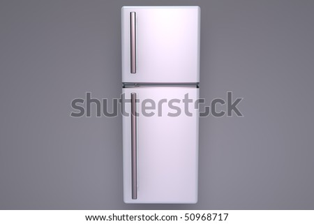Illustration of a closed fridge - Front view