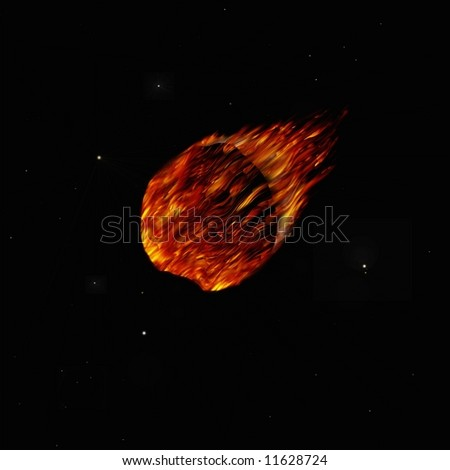 illustration of a Comet in space