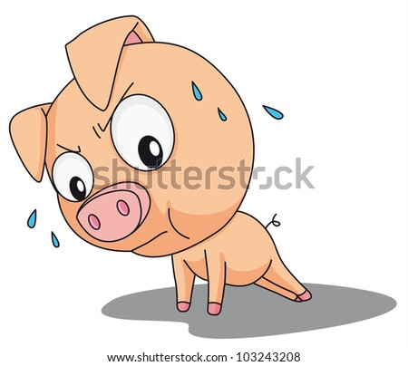 Illustration of a comical pig - EPS VECTOR format also available in my portfolio.