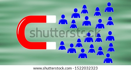 Illustration of a customer attraction concept