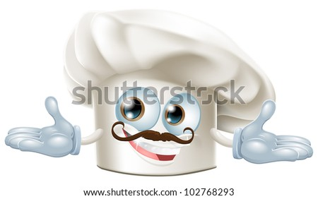 Illustration of a cute chef hat mascot