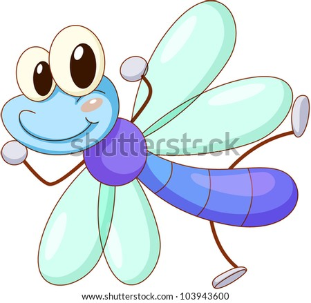 illustration of a cute fly - EPS VECTOR format also available in my portfolio.